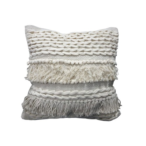 Spura Home Comfortable Braided Design Moroccan Style Pillows