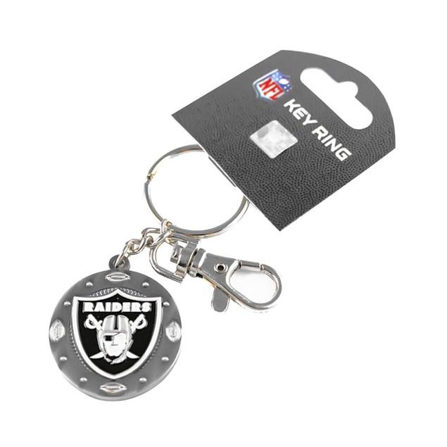 NFL Oakland Raiders Imapact Metal Key Ring Clip Keychain