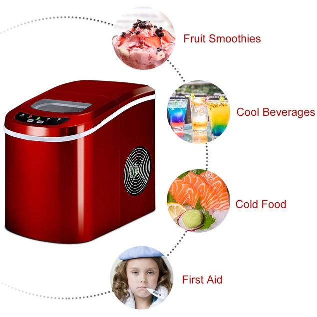Costway Portable Compact Electric Mini Ice Cube Maker