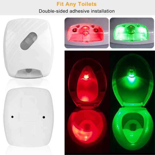 Colorful Toilet Bowl Lights Motion Sensor LED Toilet Nightlight