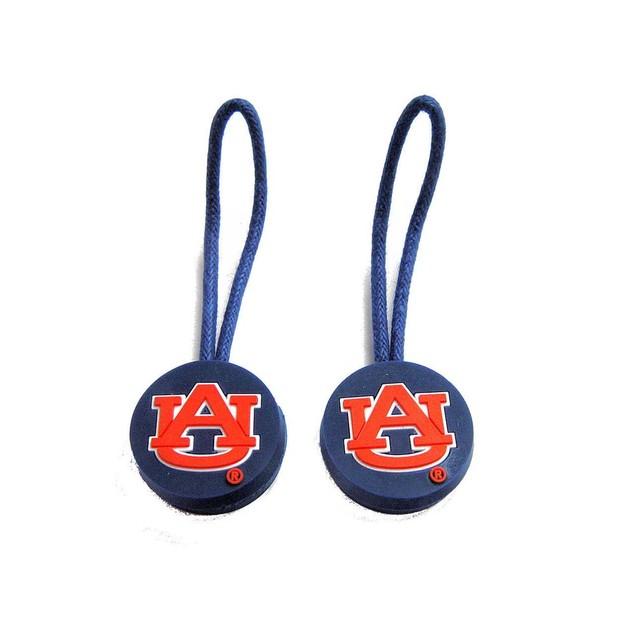 Auburn Tigers Zipper Pull Charm Tag Set Luggage Pet Id NCAA