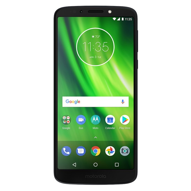 Motorola MOTO G6 Play, Unlocked, Black, 32 GB, 5.7 in Screen