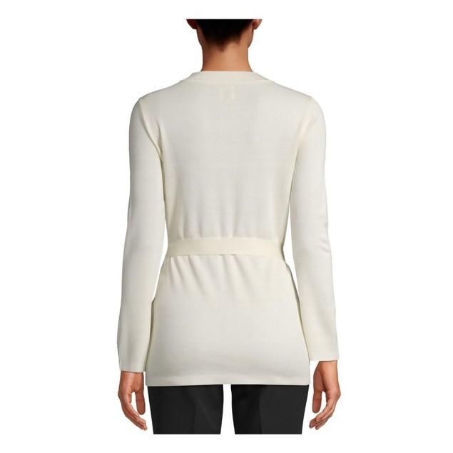 Anne Klein Women's Cardigan White Size Medium