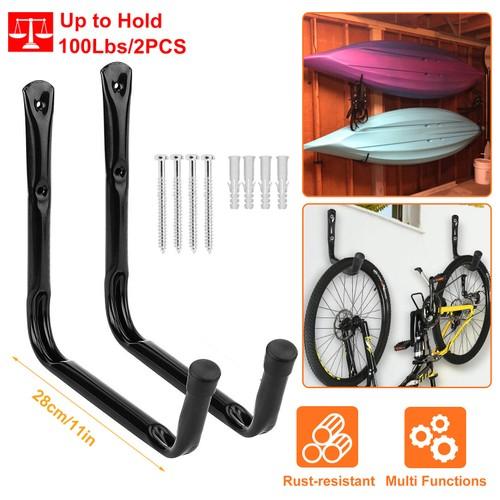 2Pcs Hanger Wall Mount Utility Hooks for Ladders Bike Surfboard Kayak