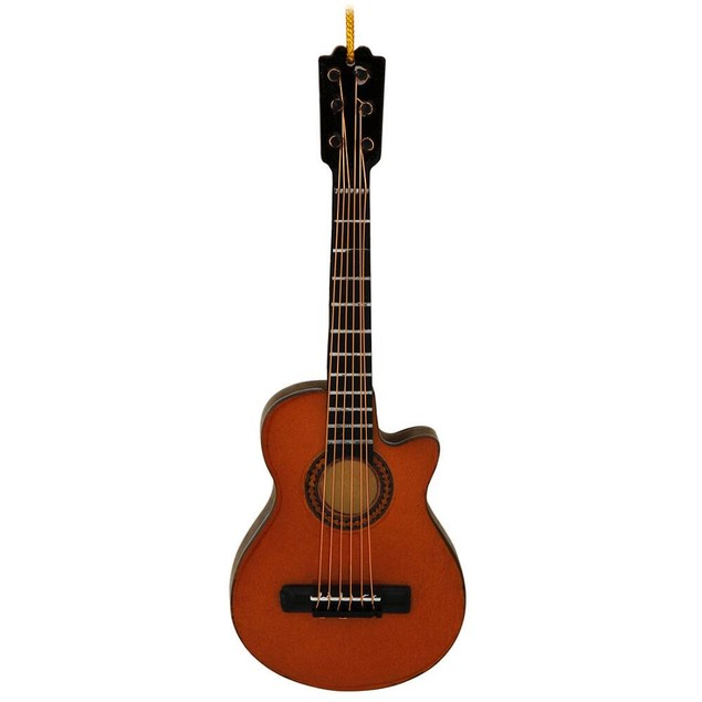 5.5 Inch Steel String Acoustic Guitar Ornament Christmas X-Mas Gift Holiday