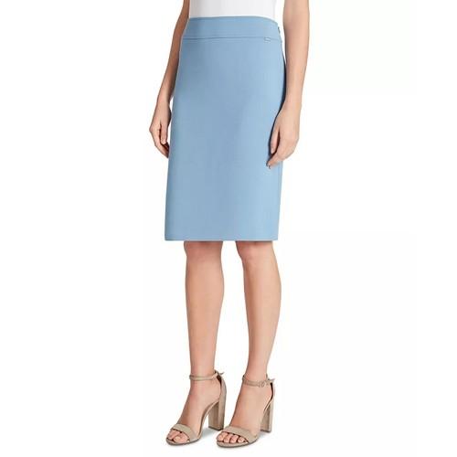 Tahari ASL Women's Pencil Skirt Medium Blue Size 18