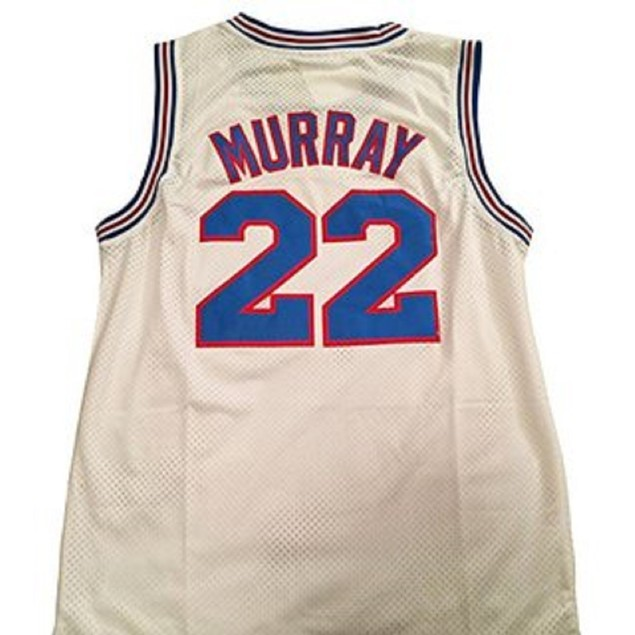 Bill Murray #22 Tune Squad White Basketball Jersey