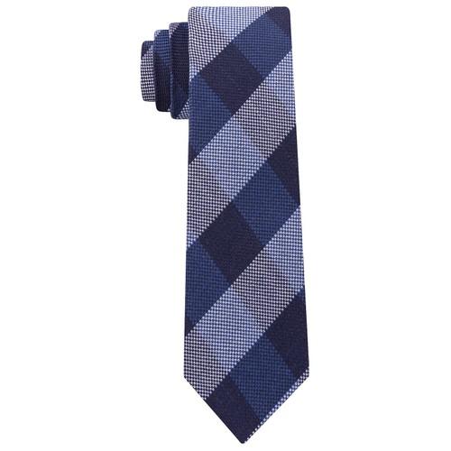 Tommy Hilfiger Men's Slim Textured Check Tie Gray Size Regular