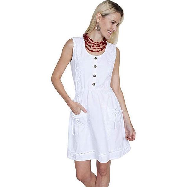 Scully Women's Addie Dress White Dress XL