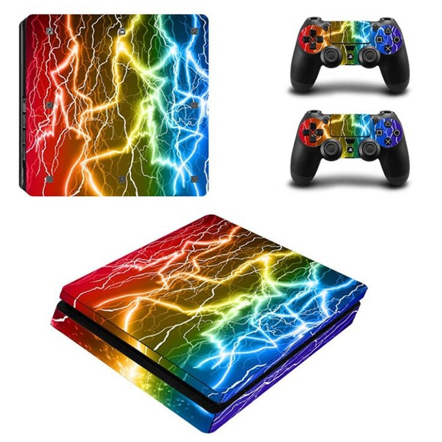 PS4 Slim Console Protective Skins - 5 Styles