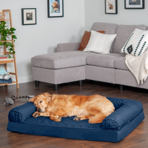 FurHaven Quilted Full Support Orthopedic Sofa Pet Bed