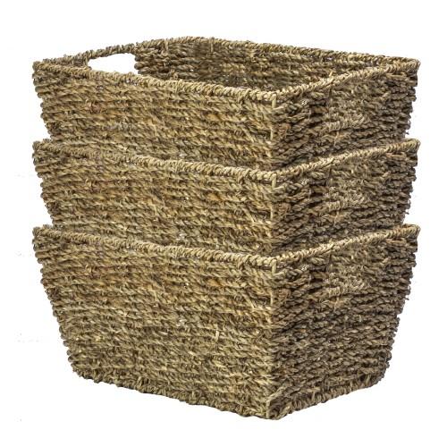 Natural Seagrass Storage Basket | MandW Set of 3