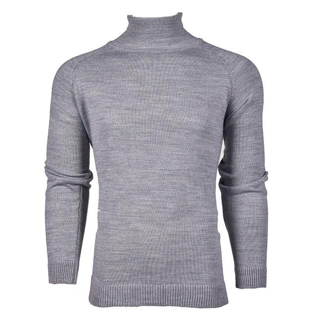 Suslo Couture Men's Slim-Fit Knit Turtle Neck
