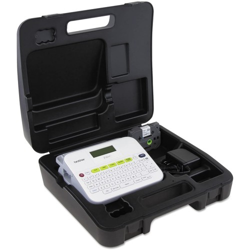Brothers Brother P-touch, PTD400VP, Versatile Label Maker with Carry Case and Adapter, Compact Design, Easy-to-Use Keyboard, Graphical Display, White