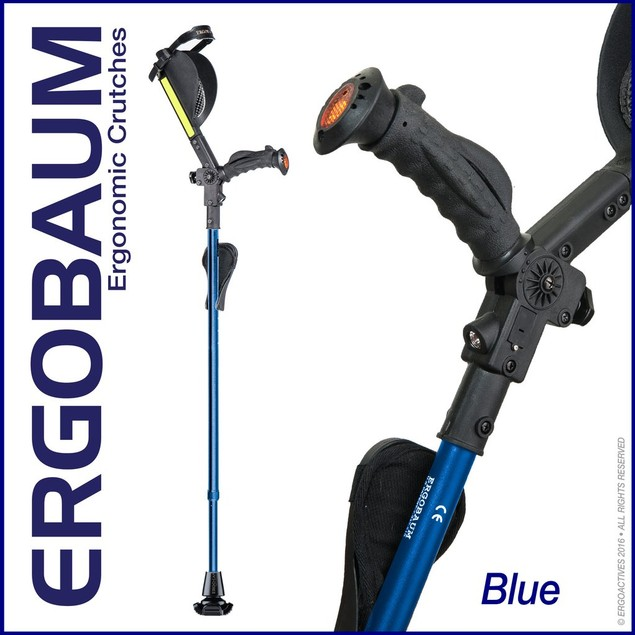 ERGOBAUM 7G ROYAL Forearm Crutches (Pair)