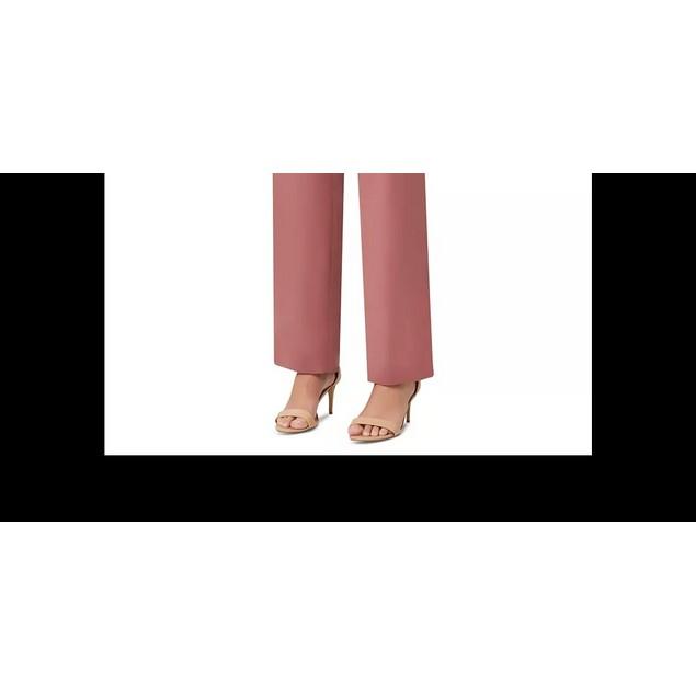 Tahari ASL Women's Petite Satin Pants Dark Pink Size 0.5