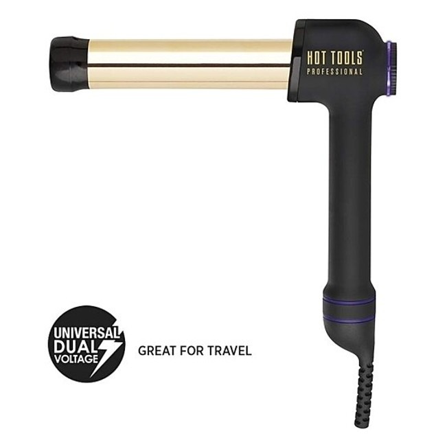 """Hot Tools Professional 24k Gold Curlbar for Long Lasting Results, 1 1/4"""""""
