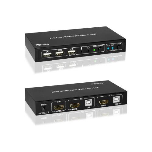 KVM HDMI Port 1.4 & USB Type B w/2 Channels Switch w/USB Type A 2.0
