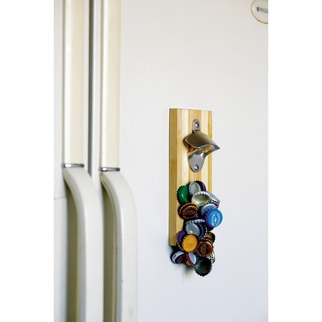 Picnic Plus  Magnetic Bamboo bottle opener - Magna Cappa Rho