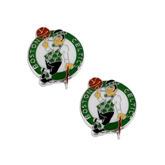 Boston Celtics Post Stud Logo Earring Set NBA Charm