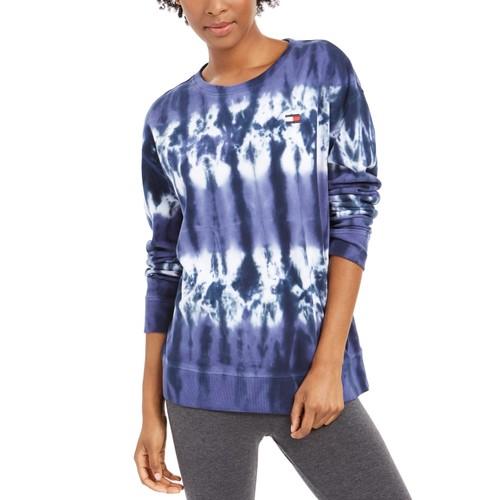 Tommy Hilfiger Women's French Terry Tie-Dye Sweatshirt Navy Size X-Small