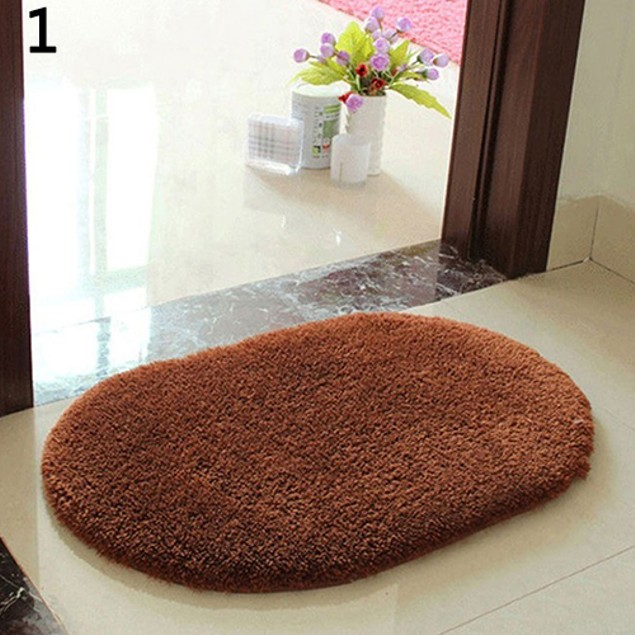 Anti-Skid Soft Fluffy Absorbent Area Rug Home Bathroom Door Mat