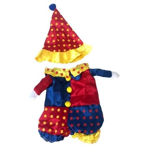 Midlee Clown Dog Costume