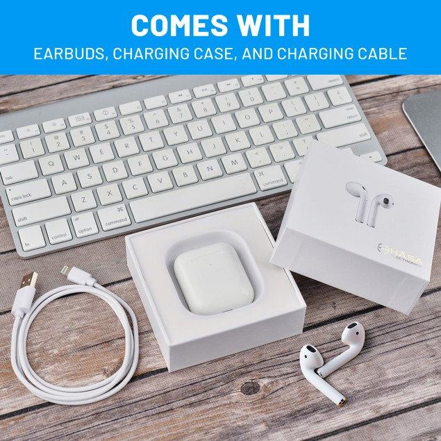 Wireless Earbuds with Charging Case and Leather Protective Case
