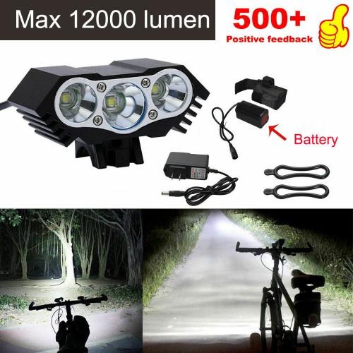3 x CREE XM-L T6 LED Bicycle bike HeadLight Head Light Lamp
