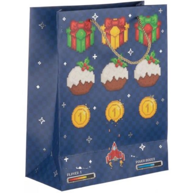 Retro Arcade Christmas Bag Large