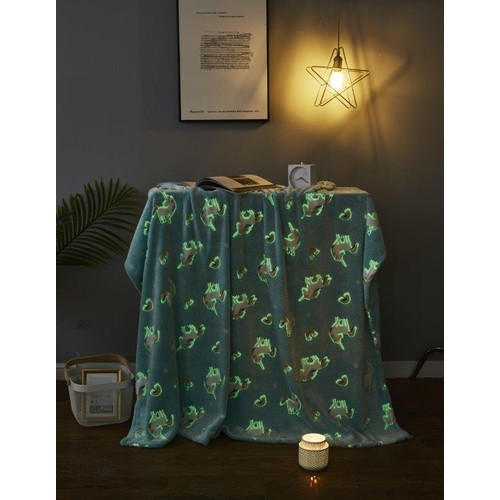 Spura Home Pictorial Glow in the Dark Raging Sea Transitional Sherpa Throw