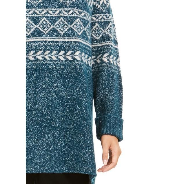 Style & Co Women's Fair Isle Tunic Sweater Fi Dark Kale Size 2 Extra Large