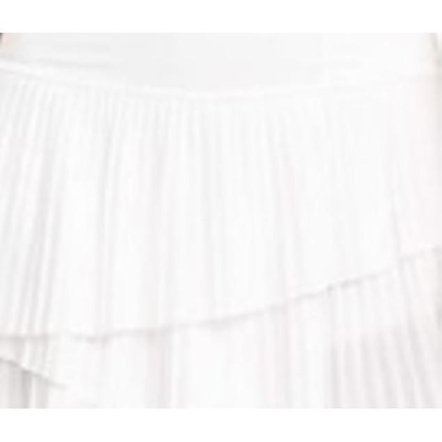 Ideology Women's Pleated Ruffled Skort White Size XX-Large