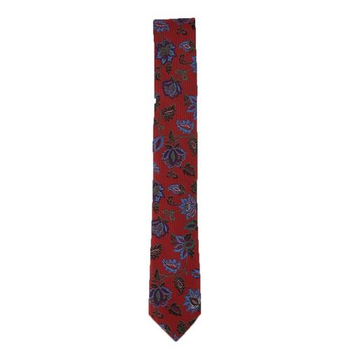 Bar III Men's Heron Floral Neck Tie Red One Size