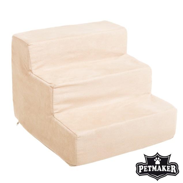 PETMAKER High Density Foam 3 Tier Pet Steps - Tan