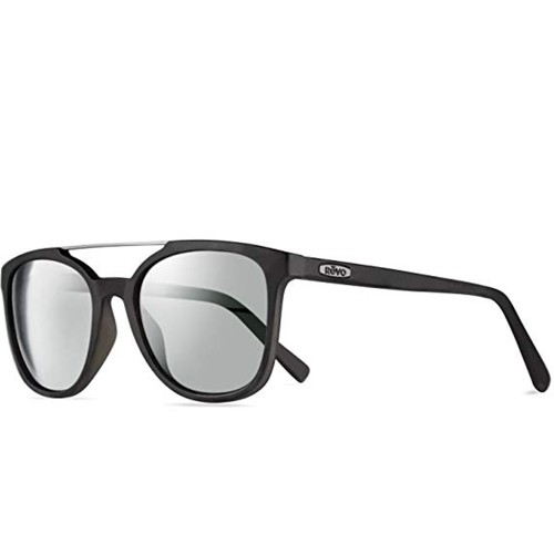 Revo Clayton Polarized Sunglasses Matte Black, Black RE 1040