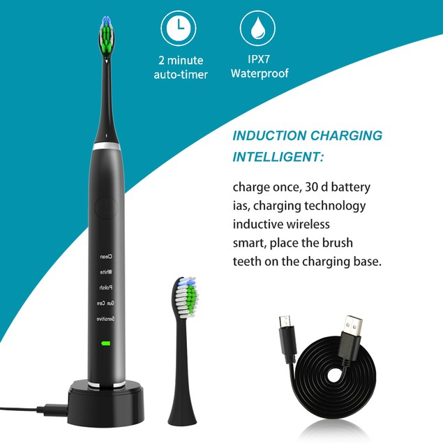 5 Modes Sonic Electric Toothbrush Smart Dental Rechargable Tooth Brush