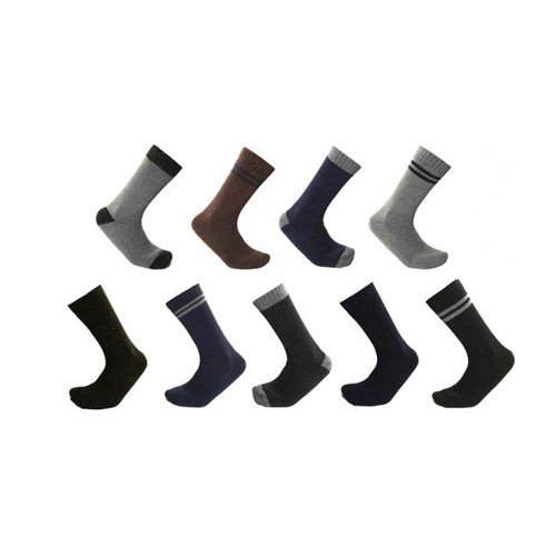 9 Pairs: Mens Thermal Crew Socks