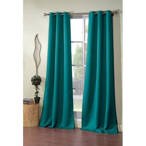 Triple-Layer Grommet Curtain Pair Panels (Set of 2)