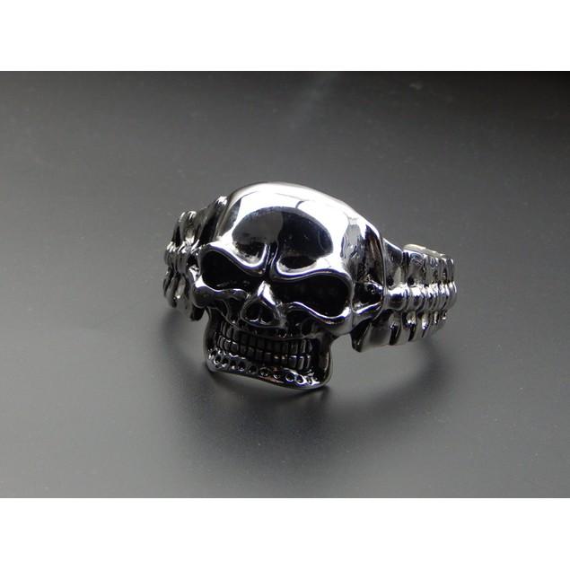 Men's Skull Head Cuff Biker Bracelet