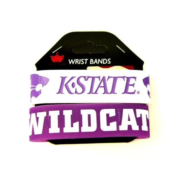 NCAA Kansas State Wildcats  Rubber Wrist Bands  Bracelets  Set of 2