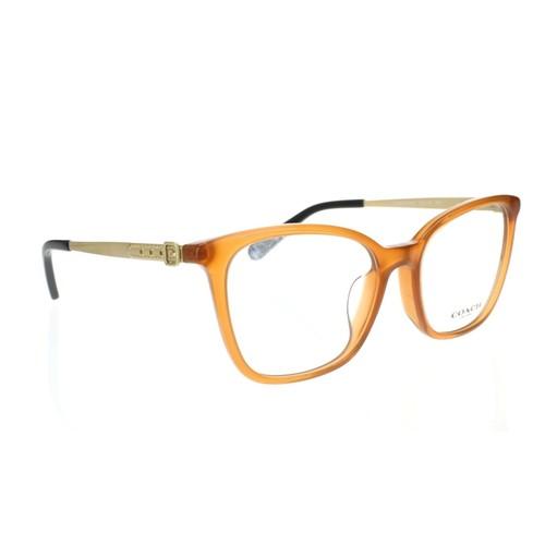 Coach 255605 Women's Rectangular Eyeglasses Gold Amber