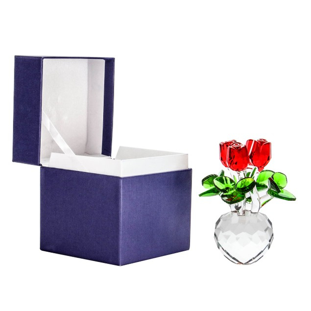 Crystal Roses Ornament   MandW