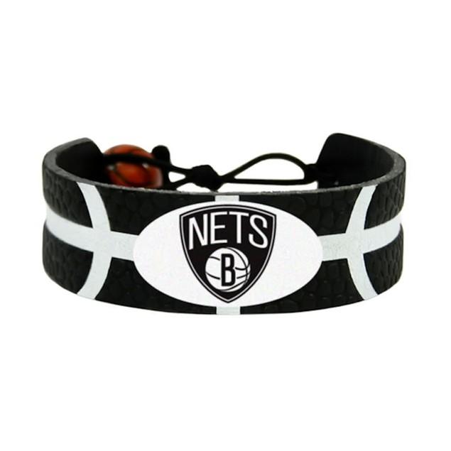 Brooklyn Nets Team Color NBA Gamewear Leather Basketball Bracelet