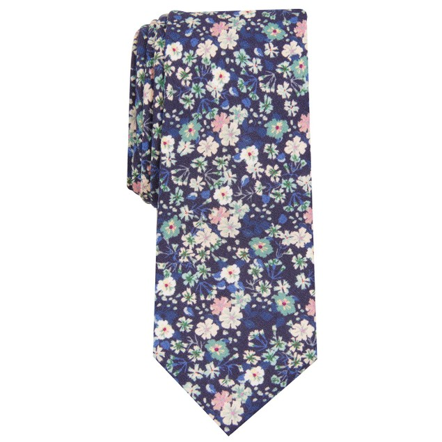 Bar III Men's Snyder Skinny Floral Tie Green Size Regular