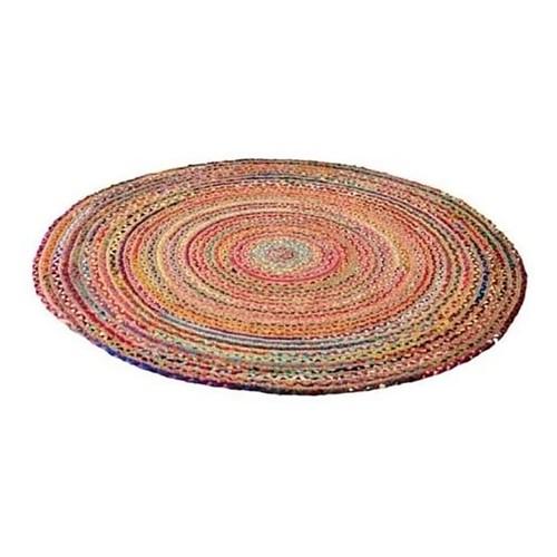 Spura Home 4' Round Vibrant Circular Chindi Handmade Dining Room Area Rug