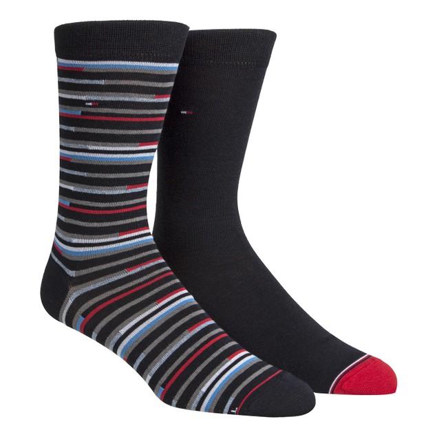 Tommy Hilfiger Men's 2-Pk. Striped Socks Blue Size Regular