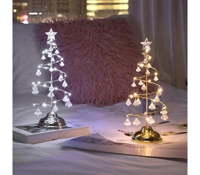 Metallic Christmas Tree Home Decor Holiday Decoration LED 13