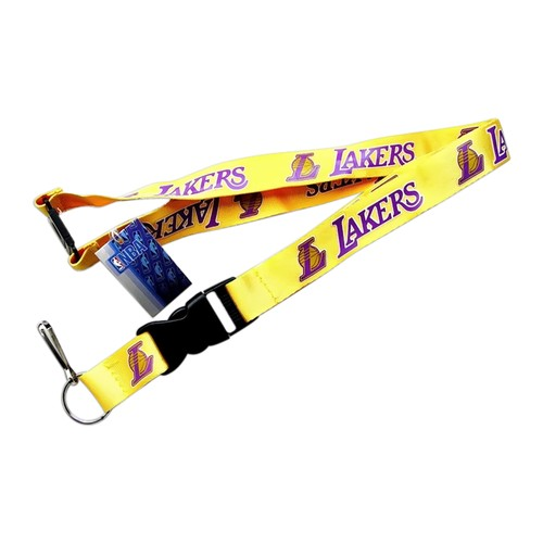 LOS Angeles Lakers Clip Lanyard Keychain Id Holder Ticket NBA - Yellow
