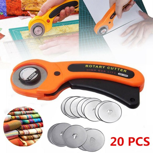 20PCS 45mm Rotary Cutter Refill Blades Quilters Sewing Fabric Cutting Tools